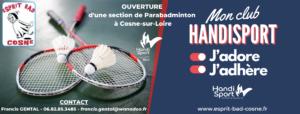 Ouverture d'une Section HANDISPORT de PARABADMINTON à Cosne-sur-Loire